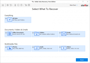 Stellar Data Recovery - Select What To Recover